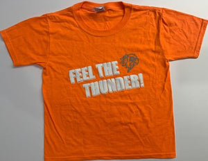 "Thunderbirds Youth ""Feel The Thunder"" Orange Tee"