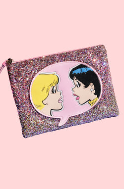 Best Friends Glitter Clutch