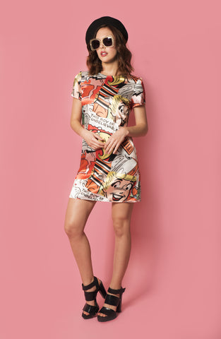 Lottie shift dress in Betty Print
