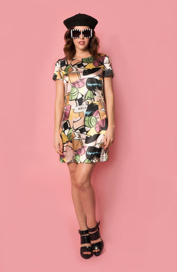 Lottie shift dress in Veronica Print