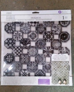 Iron Orchid Designs Decor Clear Stamps Mosaico 12 x 12