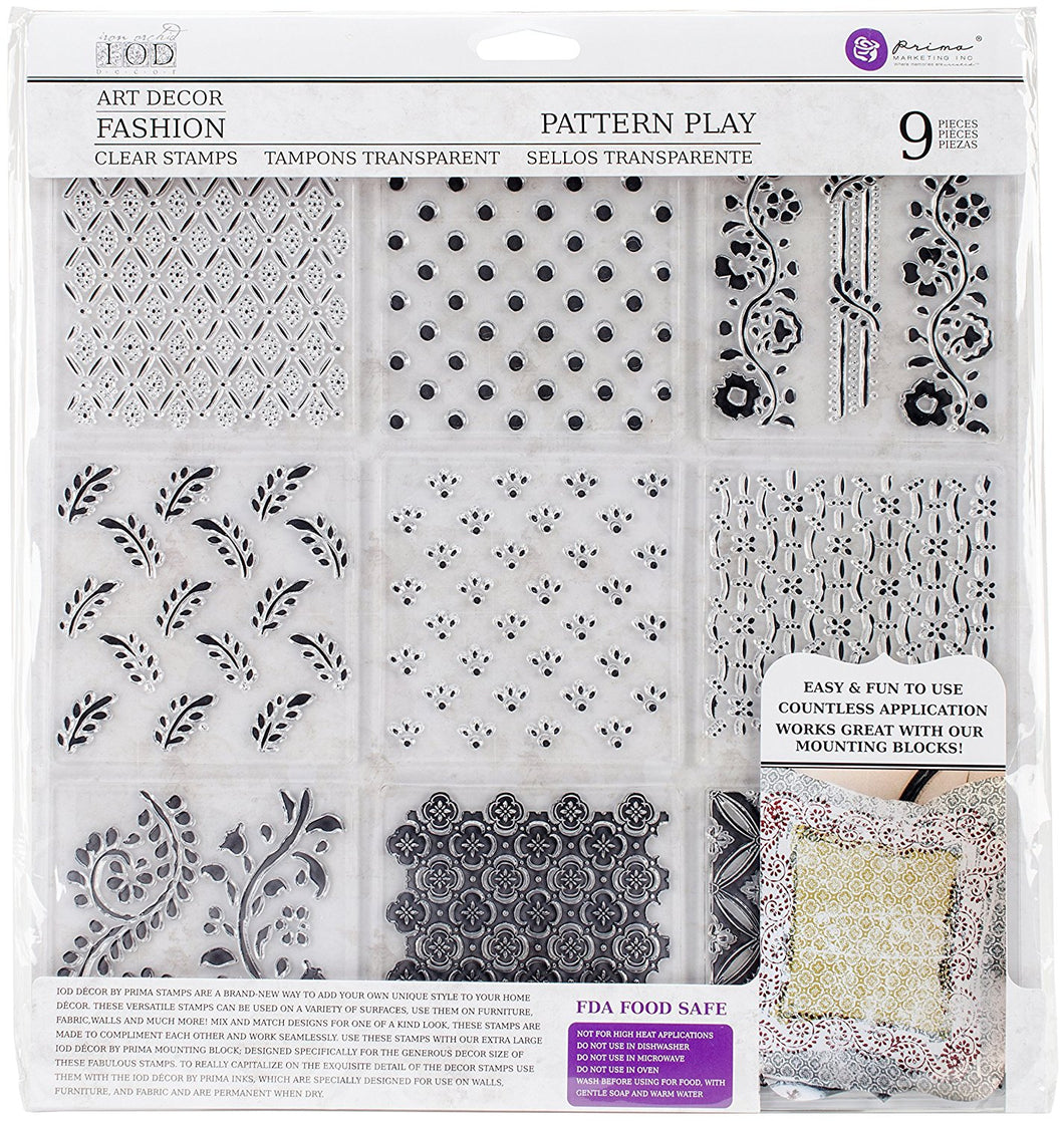 Iron Orchid Designs Decor Clear Stamps Pattern Play 12 x 12