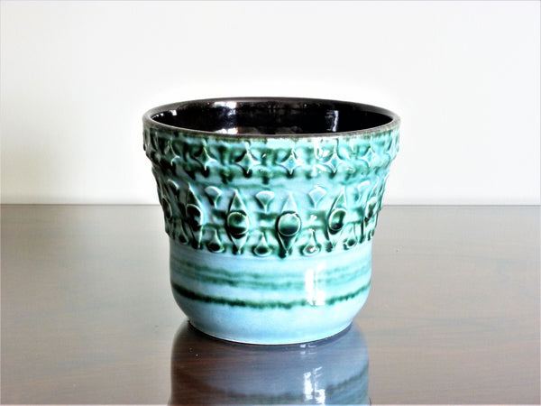 Vintage turquoise planter