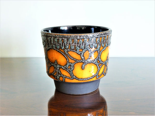 Strehla planter, grey, black and orange