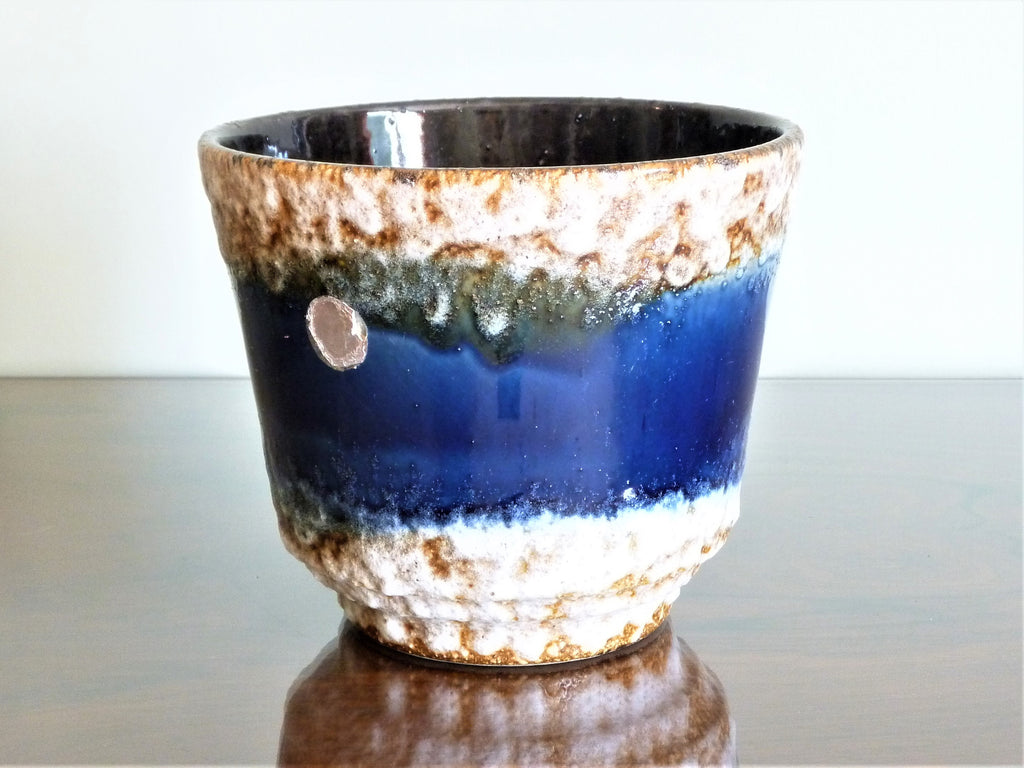 Uebelacker planter, blue and white