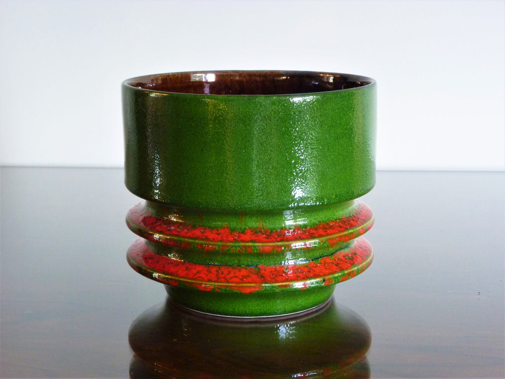 Fohr planter, green and red