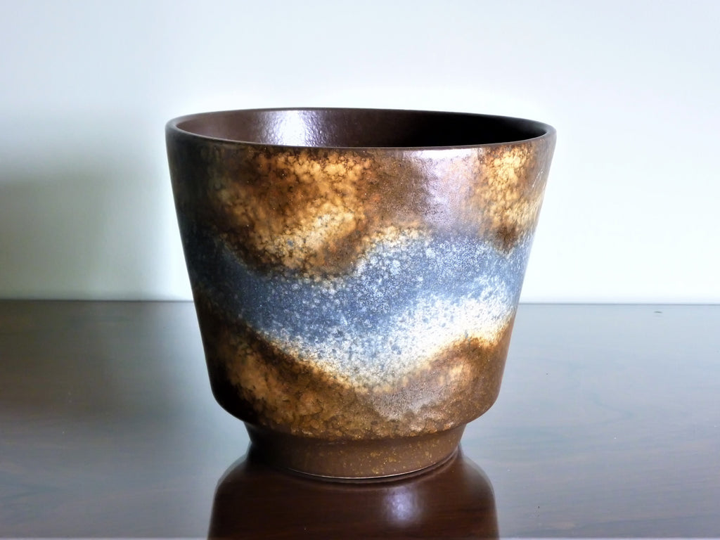 Dumler & Breiden planter, copper and grey glaze