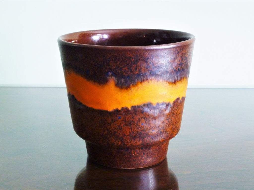 Dumler & Breiden planter, copper brown with orange band