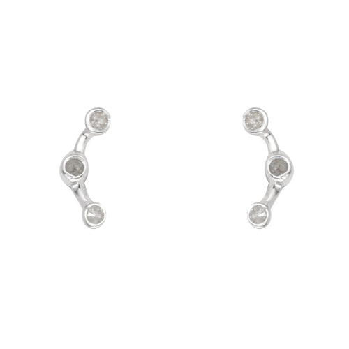 Astron Line Diamond Earring - Talisman Collective