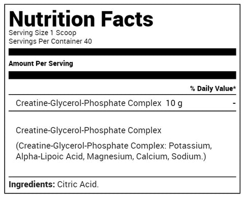 Metabolic Nutrition - CGP - Creatine Glycerol Phosphate - Unflavored - 40 Servings