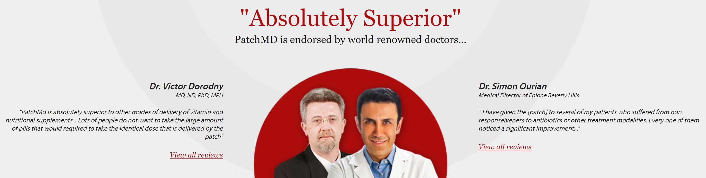 PatchMD is endorsed by world renowned doctors. Absolutely Superior!
