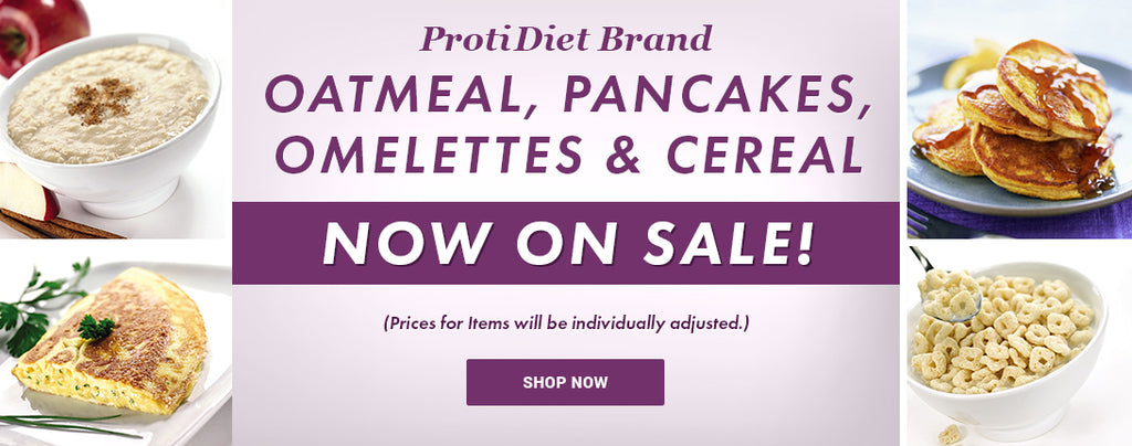 ProtiDiet Oatmeal, Pancakes, Cereal and Omelettes On Sale This Week!