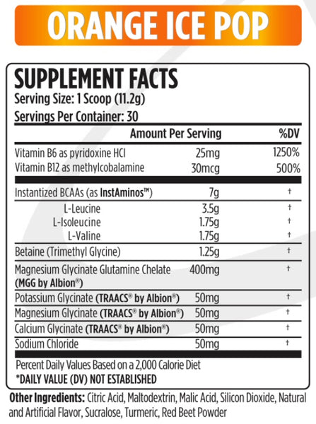 VMI Sports - Aminogex Ultra - BCAA with Electrolytes - Orange Ice Pop - 30 Servings