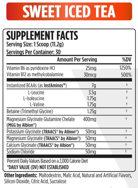VMI Sports - Aminogex Ultra - BCAA with Electrolytes - Sweet Iced Tea - 30 Servings