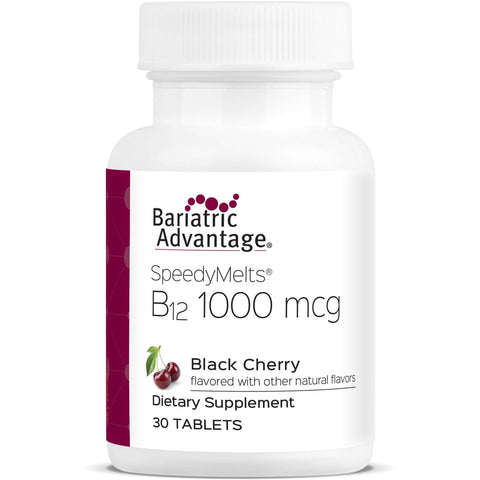 Bariatric Advantage - B12 SpeedyMelts Black Cherry (30 Count)-Nashua Nutrition