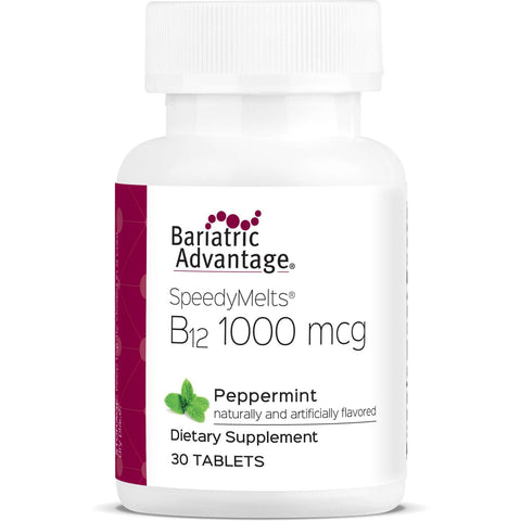 Bariatric Advantage - B12 SpeedyMelts Peppermint (30 Count)-Nashua Nutrition