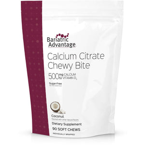 Bariatric Advantage - Calcium Citrate Chewy Bites - Coconut - 500mg - 90 Count-Nashua Nutrition