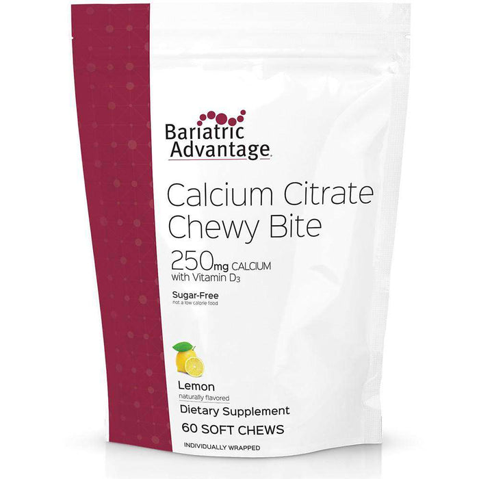 Bariatric Advantage - Calcium Citrate Chewy Bites - Lemon - 250mg - 60 Count