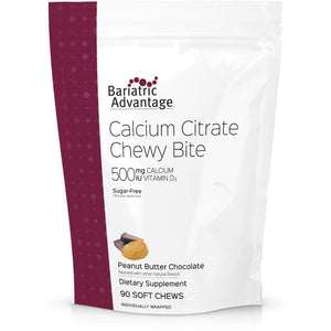 Bariatric Advantage - Calcium Citrate Chewy Bites - Peanut Butter Chocolate - 500mg - 90 Count - Nashua Nutrition