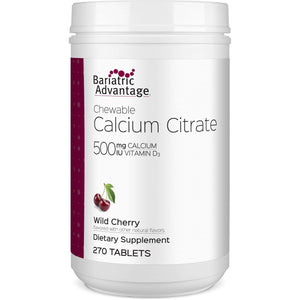 Bariatric Advantage - Chewable Calcium Citrate - Wild Cherry - 500mg - 270 Count-Nashua Nutrition