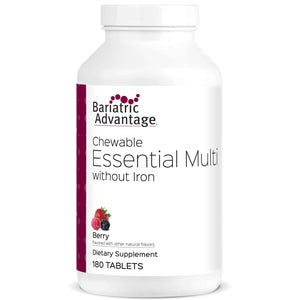 Bariatric Advantage - Chewable Essential Multi - No Iron - Berry - 180 Count - Nashua Nutrition