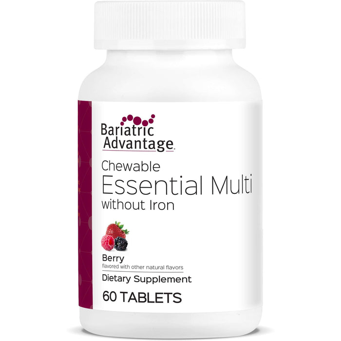 Bariatric Advantage - Chewable Essential Multi - No Iron - Berry - 60 Count