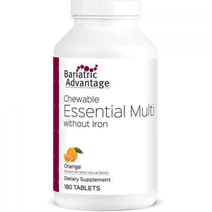 Bariatric Advantage - Chewable Essential Multi - No Iron - Orange - 180 Count - Nashua Nutrition
