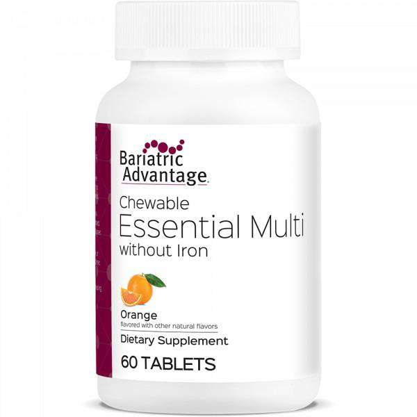 Bariatric Advantage - Chewable Essential Multi - No Iron - Orange - 60 Count
