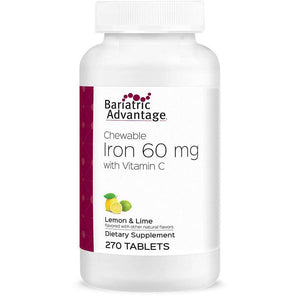 Bariatric Advantage - Chewable Iron - Lemon Lime - 60mg - 270 Count - Nashua Nutrition