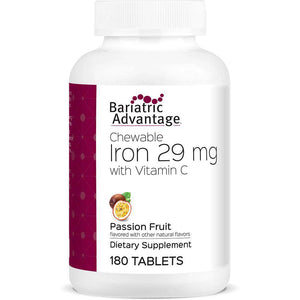 Bariatric Advantage - Chewable Iron - Passion Fruit - 29mg - 180 Count - Nashua Nutrition