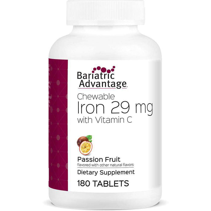 Bariatric Advantage - Chewable Iron - Passion Fruit - 29mg - 180 Count