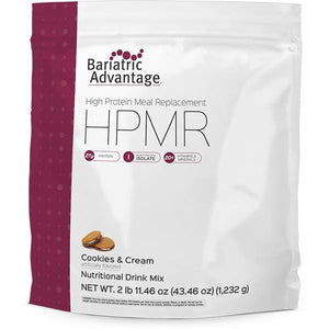 Bariatric Advantage - High Protein Meal Replacement - Cookies & Cream - 28 Servings - Nashua Nutrition