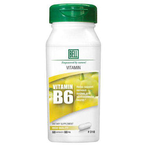 Bell Lifestyle - Vitamin B6 #310 (60 Capsules)-Nashua Nutrition