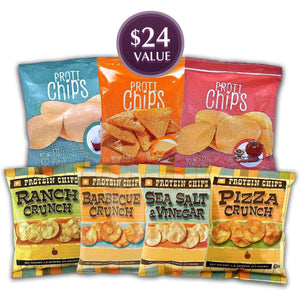 Best of Protein Chips Bundle Saver - 7 Bags-Nashua Nutrition