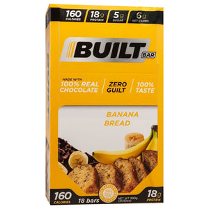 Built Bar - Protein & Fiber Bar - Banana Nut Bread - Energy Snack Bar - 18/Box or 1 Bar-Nashua Nutrition