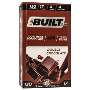 Built Bar - Protein & Fiber Bar - Double Chocolate Mousse - Energy Snack Bar - 18/Box or 1 Bar-Nashua Nutrition