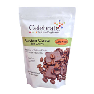 Celebrate Vitamins - Calcium Citrate - Soft Chews - Cafe Mocha - 500mg - 90 Chews-Nashua Nutrition