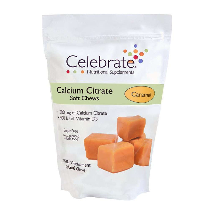 Celebrate Vitamins - Calcium Citrate - Soft Chews - Caramel - 500mg - 90 Chews