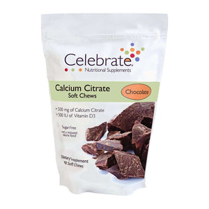 Celebrate Vitamins - Calcium Citrate - Soft Chews - Chocolate - 500mg - 90 Chews-Nashua Nutrition