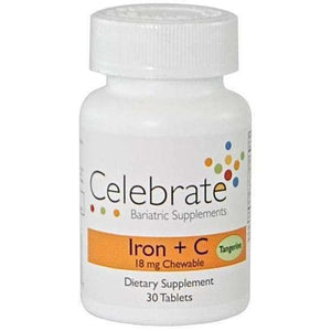 Celebrate Vitamins - Iron+C - 18mg - Chewable - Tangerine - 30 Tablets-Nashua Nutrition