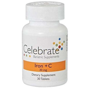 Celebrate Vitamins - Iron+C - 30mg - 30 Tablets-Nashua Nutrition