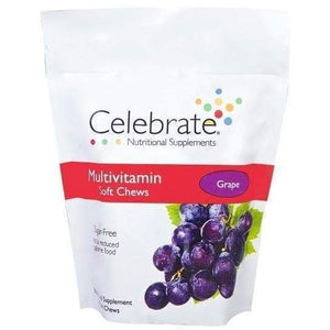 Celebrate Vitamins - Multivitamin - Soft Chews - Grape - 60 Chews-Nashua Nutrition