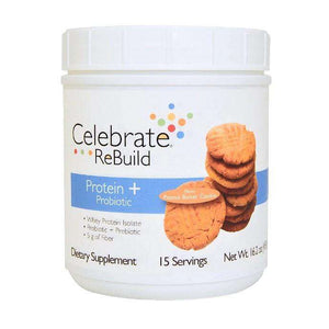 Celebrate Vitamins - ReBuild Protein Plus ProBiotic Powder - Peanut Butter Cookie - 15 Serving Jug-Nashua Nutrition
