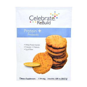 Celebrate Vitamins - ReBuild Protein Plus ProBiotic Powder - Peanut Butter Cookie - Single Serving - Nashua Nutrition