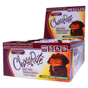 ChocoRite - Diet Dark Chocolate Crunch - 16/Box-Nashua Nutrition