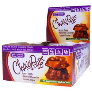 ChocoRite - Diet Milk Chocolate Pecan Clusters - 16/Box-Nashua Nutrition
