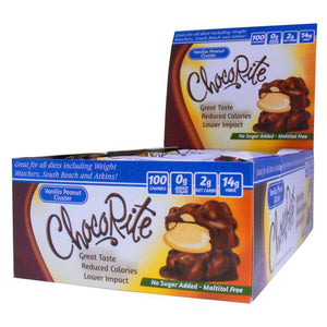 ChocoRite - Diet Vanilla Peanut Clusters - 16/Box-Nashua Nutrition
