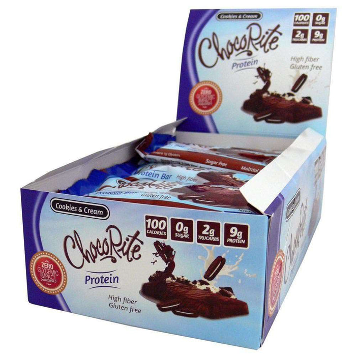 ChocoRite - Protein Bar - Cookies & Cream - Sugar Free - 16/Box