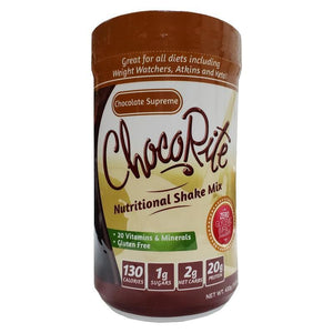 ChocoRite - Protein Shake Mix - Chocolate Supreme - 12 Servings - Nashua Nutrition