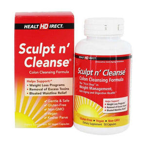 Health Direct - Sculpt n' Cleanse (50 Capsules)-Nashua Nutrition